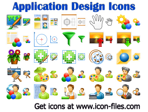 Application Design Icons software screenshot